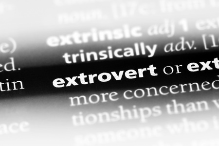 extrovert word in a dictionary. extrovert concept