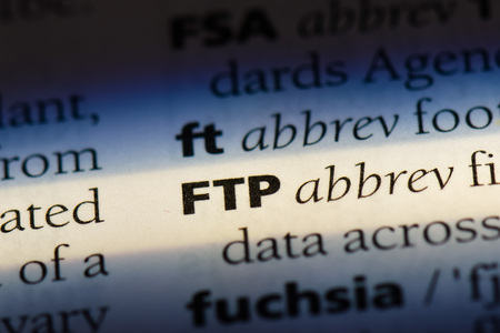 FTP word in a dictionary. FTP concept