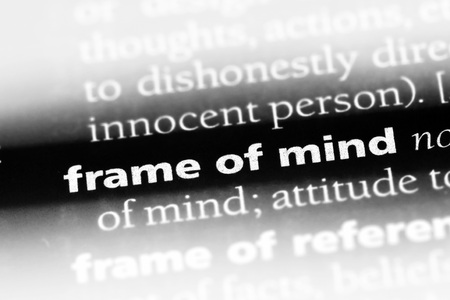 frame of mind word in a dictionary. frame of mind concept Stock Photo