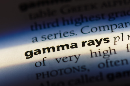 gamma rays word in a dictionary. gamma rays concept Stock Photo
