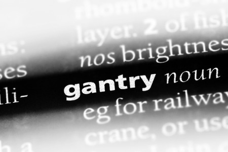gantry word in a dictionary. gantry concept