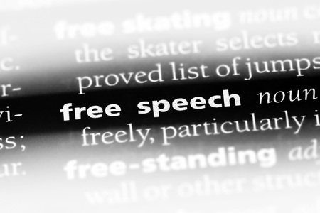 free speech word in a dictionary. free speech concept