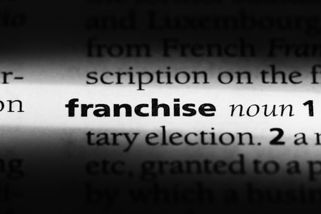 franchise word in a dictionary. franchise concept