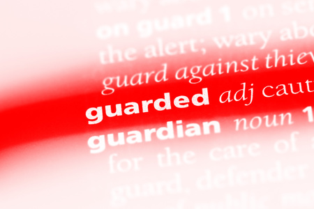 guarded word in a dictionary. guarded concept