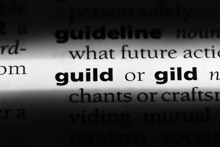 guild word in a dictionary. guild concept Stockfoto