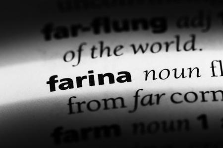 farina word in a dictionary. farina concept Stock Photo