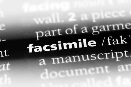 facsimile word in a dictionary. facsimile concept