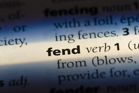 fend word in a dictionary. fend concept
