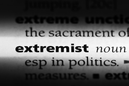 extremist word in a dictionary. extremist concept Banco de Imagens - 100411005