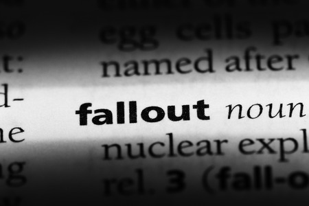 fallout word in a dictionary. fallout concept Reklamní fotografie