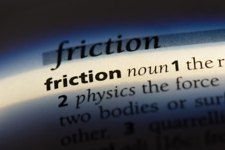 friction word in a dictionary. friction concept Stock fotó