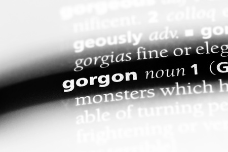 gorgon word in a dictionary. gorgon concept Stock Photo