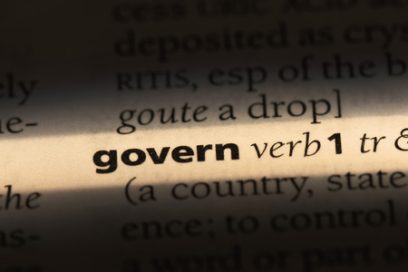 govern word in a dictionary. govern concept Stock fotó
