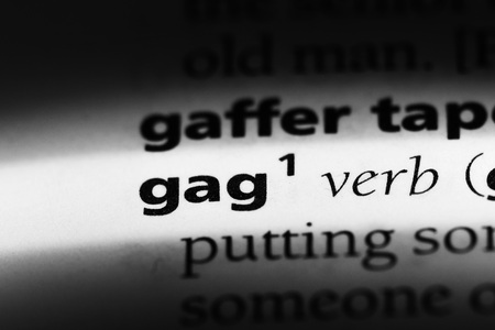 gag word in a dictionary. gag concept