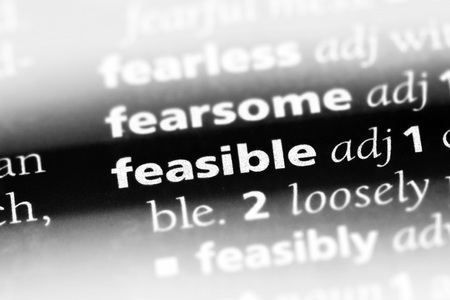feasible word in a dictionary. feasible concept