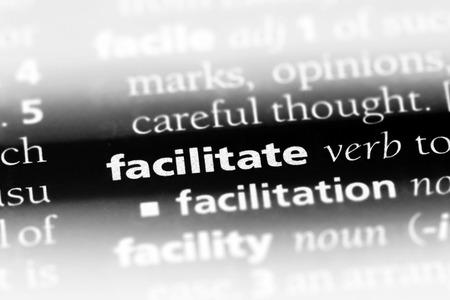 facilitate word in a dictionary. facilitate concept