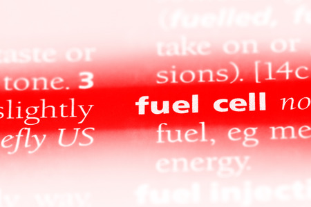 fuel cell word in a dictionary. fuel cell concept