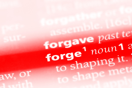 forge word in a dictionary. forge concept Stock Photo