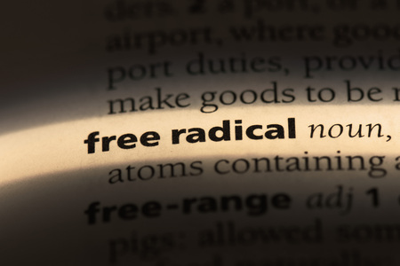 free radical word in a dictionary. free radical concept