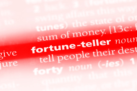fortune teller word in a dictionary. fortune teller concept Stock Photo