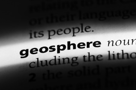 geosphere word in a dictionary. geosphere concept Stock Photo