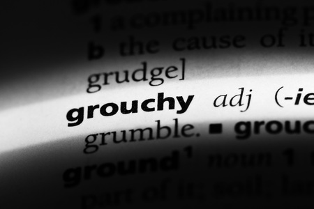 grouchy word in a dictionary. grouchy concept Banque d'images - 100415736