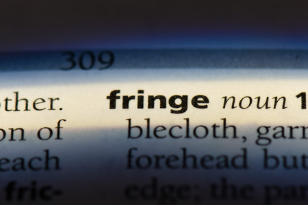 fringe word in a dictionary. fringe concept