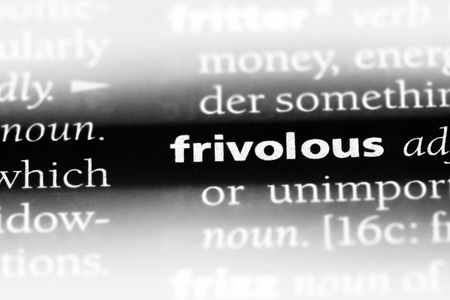 frivolous word in a dictionary. frivolous concept