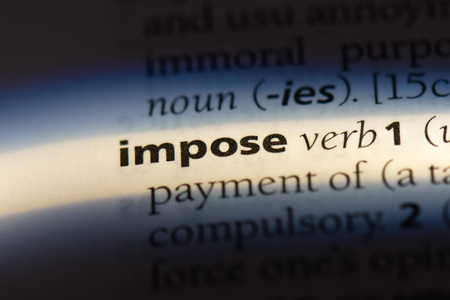 impose word in a dictionary. impose concept.