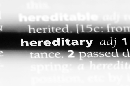 hereditary word in a dictionary. hereditary concept. 版權商用圖片