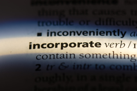incorporate word in a dictionary. incorporate concept.