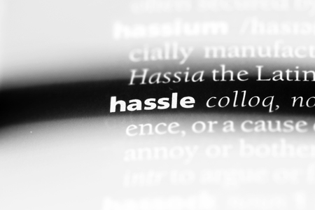 hassle word in a dictionary. hassle concept. Reklamní fotografie