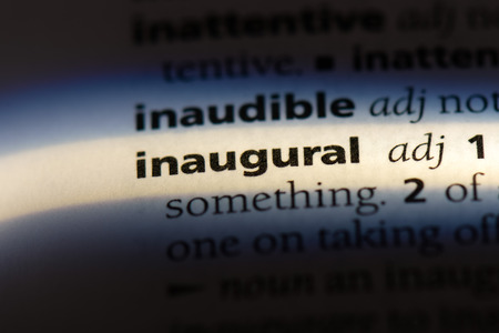 inaugural word in a dictionary. inaugural concept.