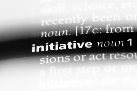 initiative word in a dictionary. initiative concept. 版權商用圖片