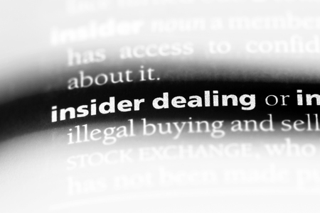 insider dealing word in a dictionary. insider dealing concept.