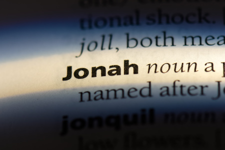 jonah word in a dictionary. jonah concept.
