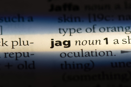 jag word in a dictionary. jag concept.
