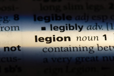 legion word in a dictionary. legion concept.