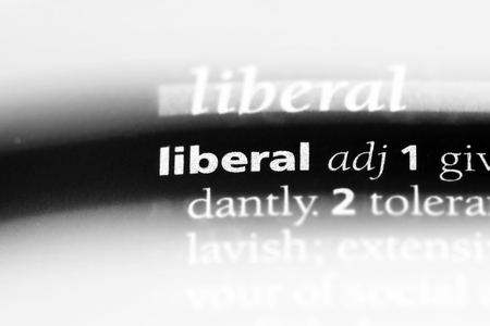 liberal word in a dictionary. liberal concept.
