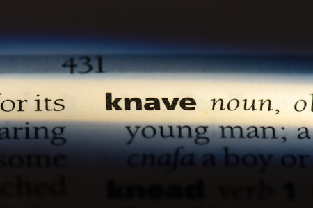 knave word in a dictionary. knave concept.