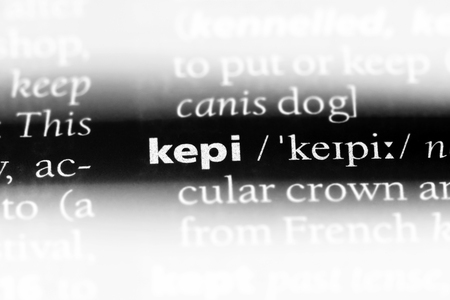 kepi word in a dictionary. kepi concept.