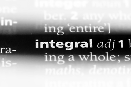 integral word in a dictionary. integral concept.
