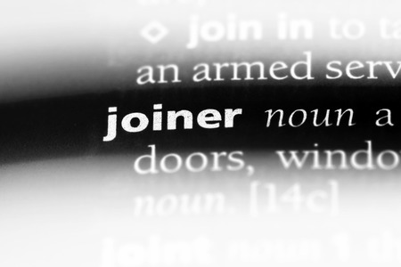 joiner word in a dictionary. joiner concept.