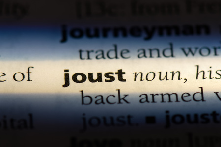 joust word in a dictionary. joust concept.
