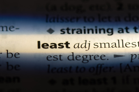 least word in a dictionary. least concept.