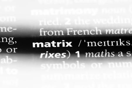 matrix word in a dictionary. matrix concept.