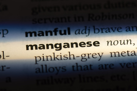 manganese word in a dictionary. manganese concept. Stock Photo