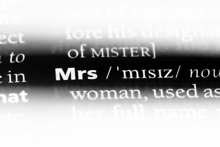 mrs word in a dictionary. mrs concept.