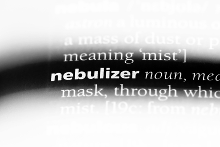 nebulizer word in a dictionary. nebulizer concept.