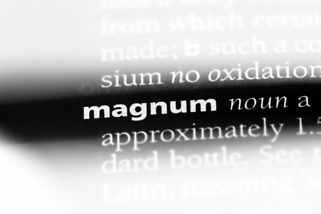 magnum word in a dictionary. magnum concept. Stock Photo